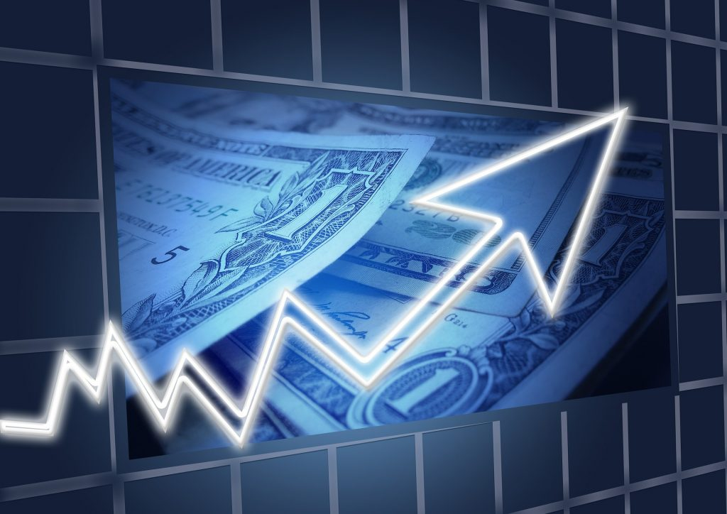 Geld mit Schwankungen