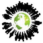 Crowdfunding - Menschen mit Globus